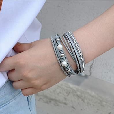 pulsera cuero mujer