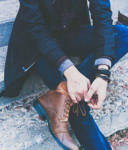 botas de cuero hombre