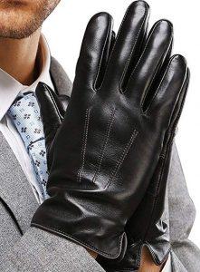 guantes de cuero hombre