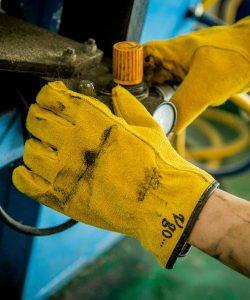 guantes de trabajo cuero
