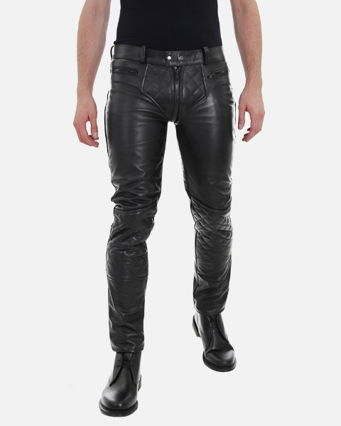 pantalon cuero hombre