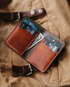 billetera cuero hombre