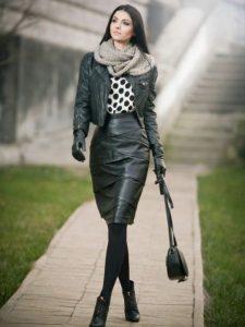 guantes de cuero mujer
