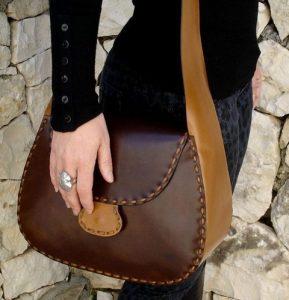 bolso de cuero artesanal