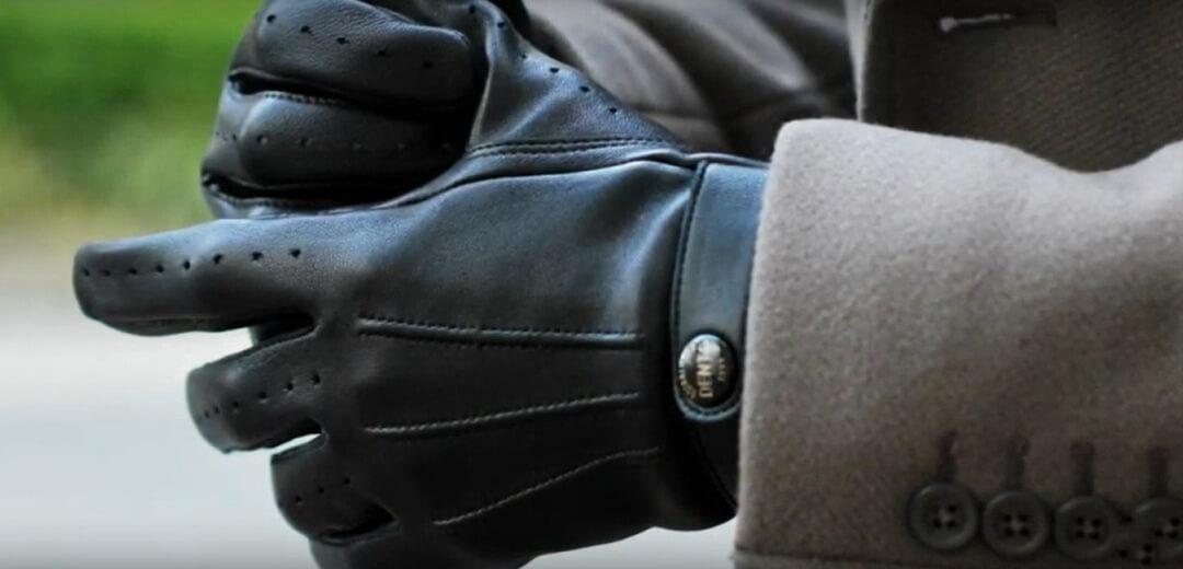 guantes de cuero