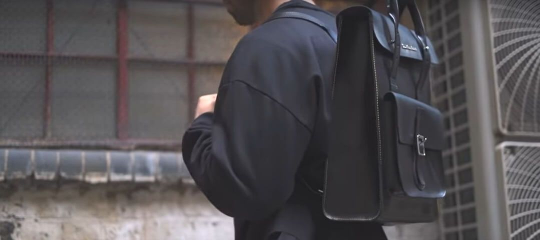 mochila cuero hombre