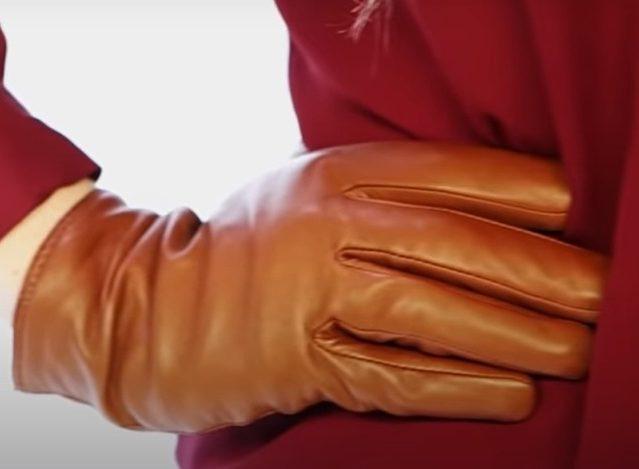 guantes cuero mujer