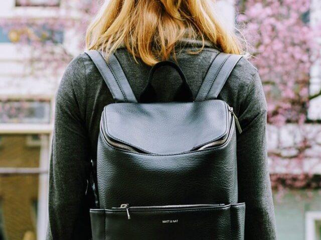 mochila de cuero mujer