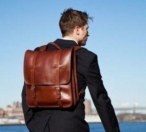 mochila de cuero hombre