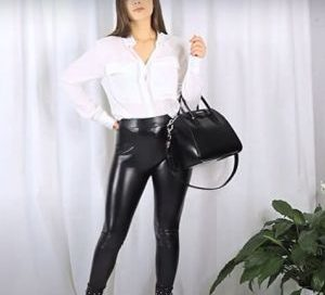 pantalon cuero mujer